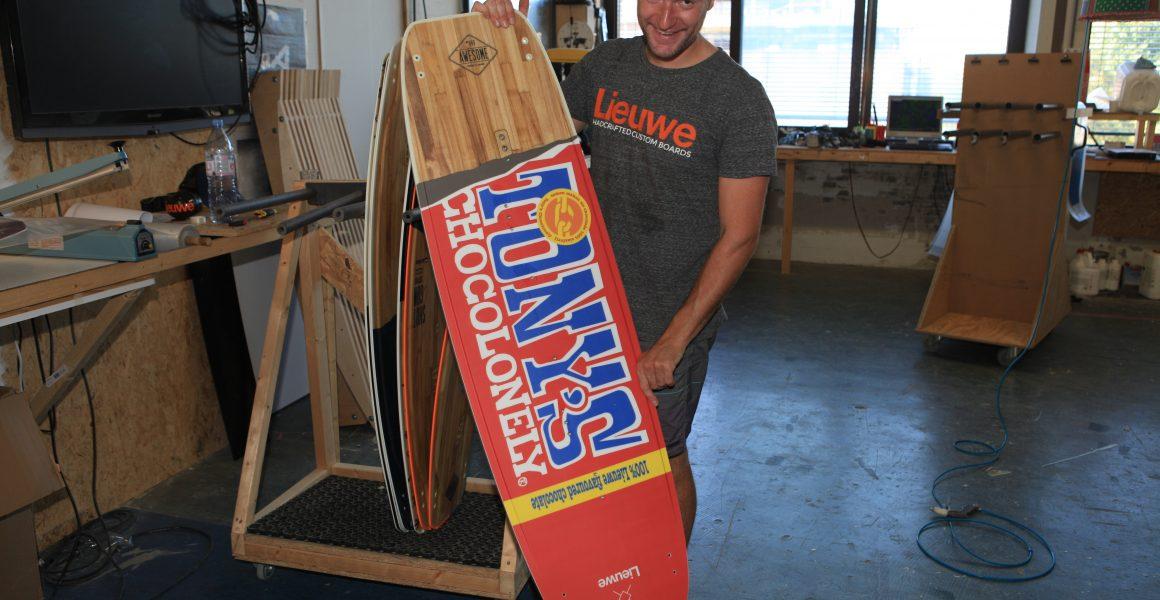 Lieuwe Boards personaliseert kitesurfboards